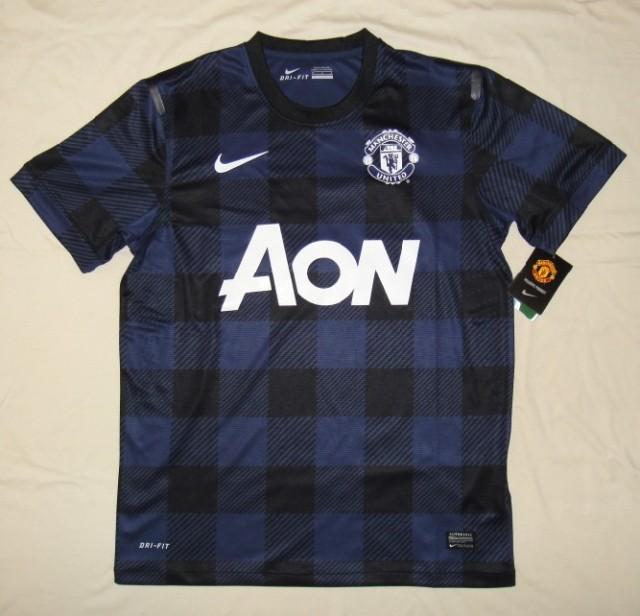 0e3785580 13 14 Manchester United Away Black Jersey Shirt  133251728  - USD ...