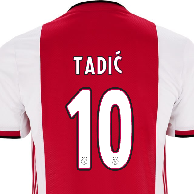 d5be92dba0d  10 TADIC Ajax 2019-2020 Home Soccer Jersey