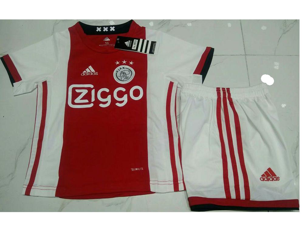bc559b6dea6 Kids Ajax 2019-2020 Home Soccer Kit(Jersey+Shorts)