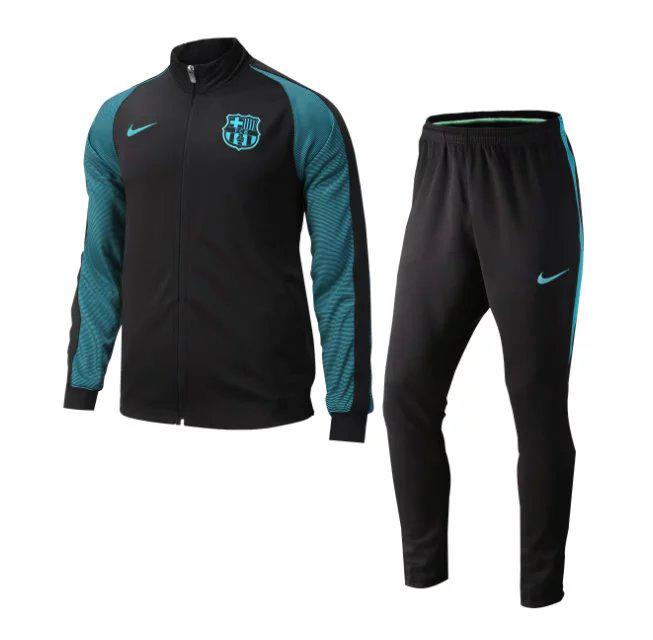 Barcelona Enam Tujuh Blackblue Ndelapan Training Kit  Cheap Soccer Jerseys Shop