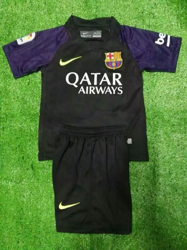 b1e14db5b Kids Barcelona 16-17 Goalkeeper Jersey Kit(Shirt+Shorts)  1610211435 ...