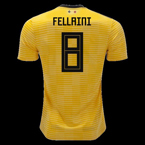 3da36053f Belgium 2018 World Cup Marouane Fellaini  8 Away Soccer Jersey
