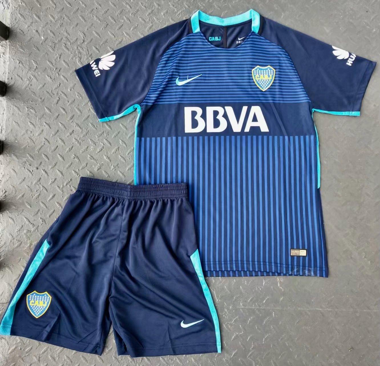 7883c3023 Kids Boca Juniors 2017-18 2rd Away Soccer Kit (Jersey + Shorts ...