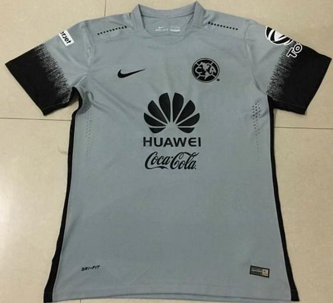 873531638 Club America 2016-17 Third Grey Soccer Jersey