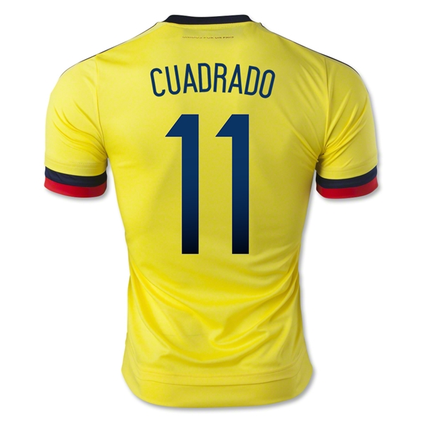 1dd1e64aa1c Colombia 2015-16 Cuadrado  11 Home Soccer Jersey