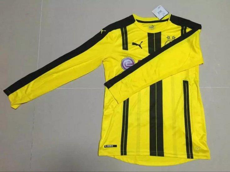 3d78f2ea8 Borussia Dortmund 2016-17 Long Sleeve Home Soccer Jersey