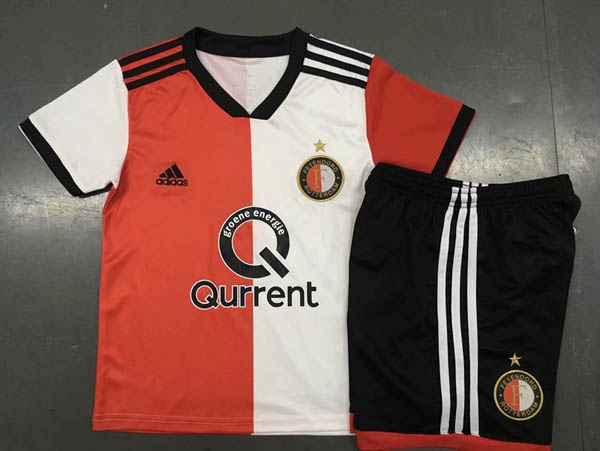 Kids Feyenoord 2018 19 Home Soccer Kit (Jersey+Shorts) 089345625