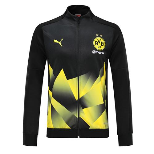 Shop 19 20 Borussia Dortmund Black High Neck Collar Training Jacket Cheap Soccer Jerseys For Sale Gogoalshop