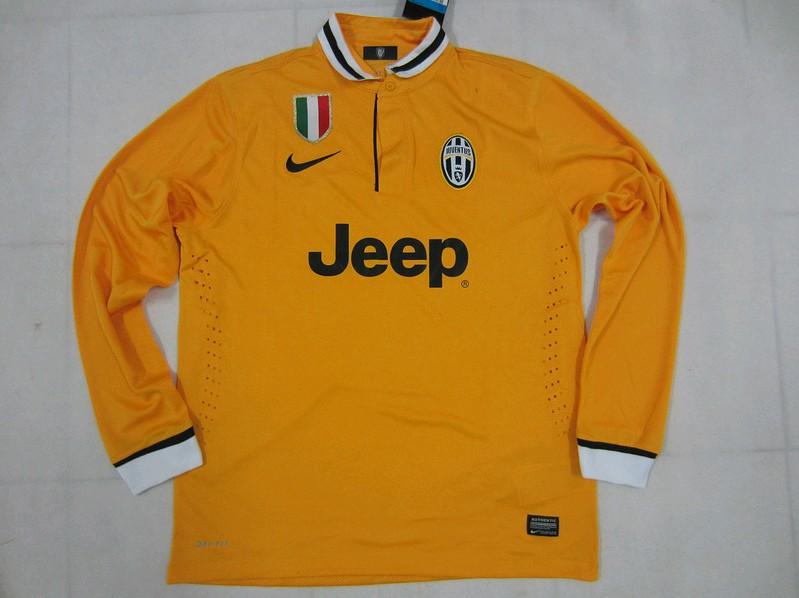 53c64a0b4 13-14 Juventus Away Long Sleeve Whole Kit(Shirt +Shorts)  1310052309 ...