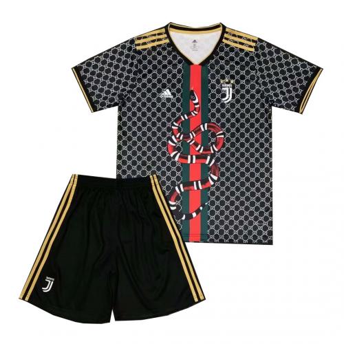 Shop 19 20 Juventus Gucci Snake Jersey Kits Black Cheap Soccer Jerseys For Sale Gogoalshop