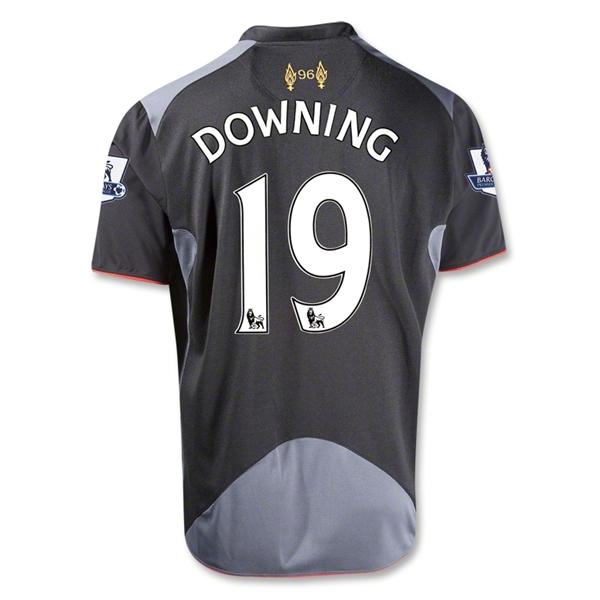 Downing Black Away Soccer Jersey Shirt Replica
