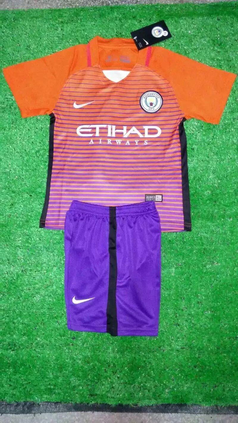 size 40 93c2a 3e5fe Manchester City Kids 16/17 Third Soccer Kit (Jersey+Shorts ...