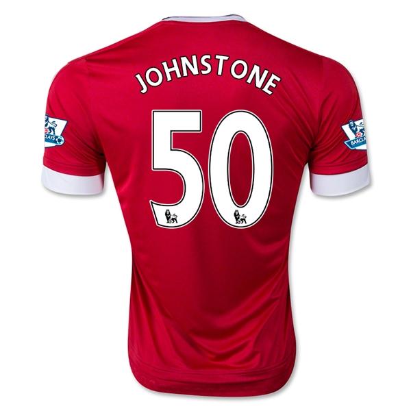 7917cb99a82 Manchester United 15-16 JOHNSTONE 50 Home Soccer Jersey 20162017 Manchester  United Soccer Jersey Adidas (First shirt) Luke Shaw 23 ...