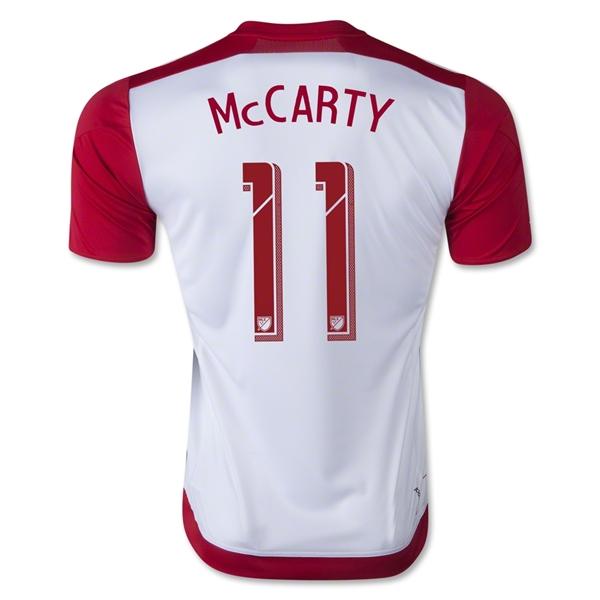 04a33661451 New York Red Bulls 2015-16 Mccarty  11 Home Soccer Jersey Shirt