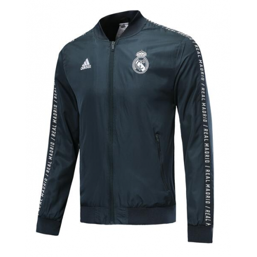 Shop 19 20 Real Madrid Windrunner Jacket Green Cheap Soccer Jerseys For Sale Gogoalshop