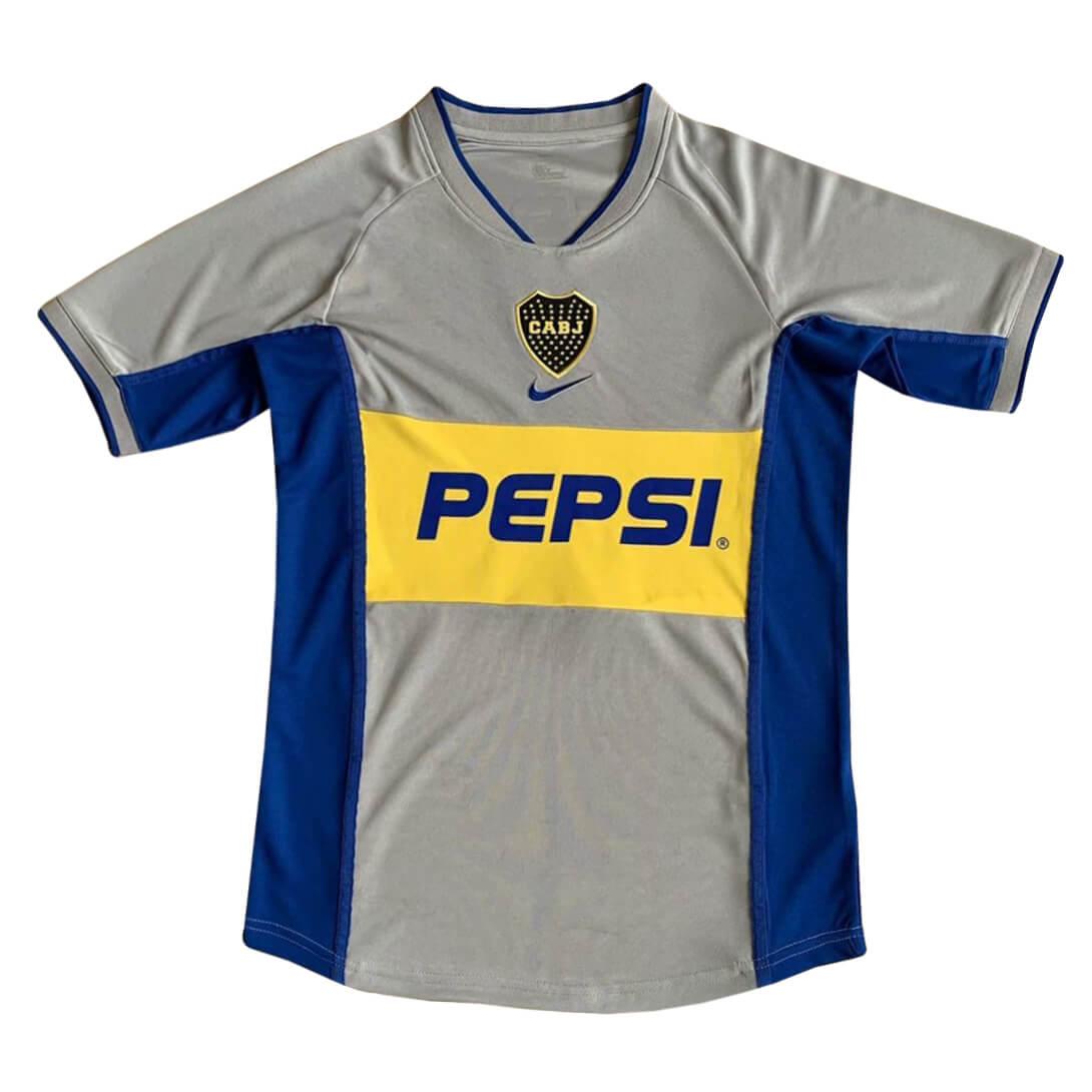 Shop 2002 Boca Junior Away Retro Soccer Jersey Cheap Soccer ...