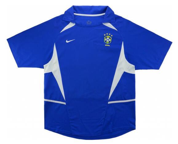 Shop Brazil 2002 Away Retro Soccer Jersey Cheap Soccer Jerseys for ...