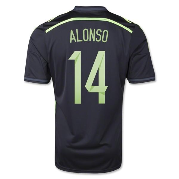 4f66bfbc2 2014 world cup spain 14 alonso home soccer long sleeve shirt kit