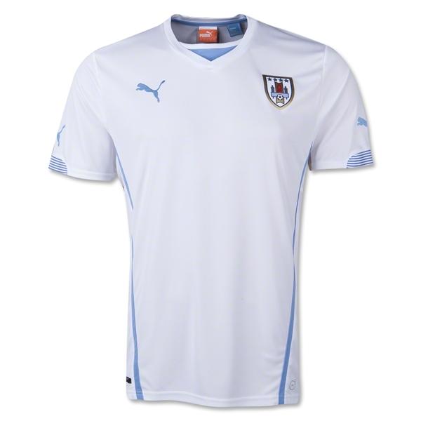 hot sale online f8382 e6422 2014 world cup uruguay 9 suarez home soccer shirt kit