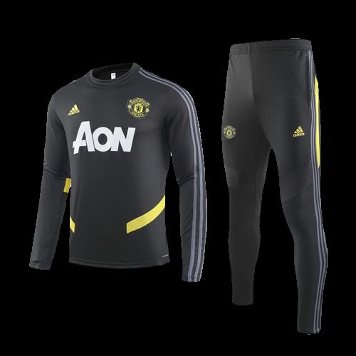 Shop 19 20 Manchester United Blue Polo Kit Cheap Soccer Jerseys For Sale Gogoalshop